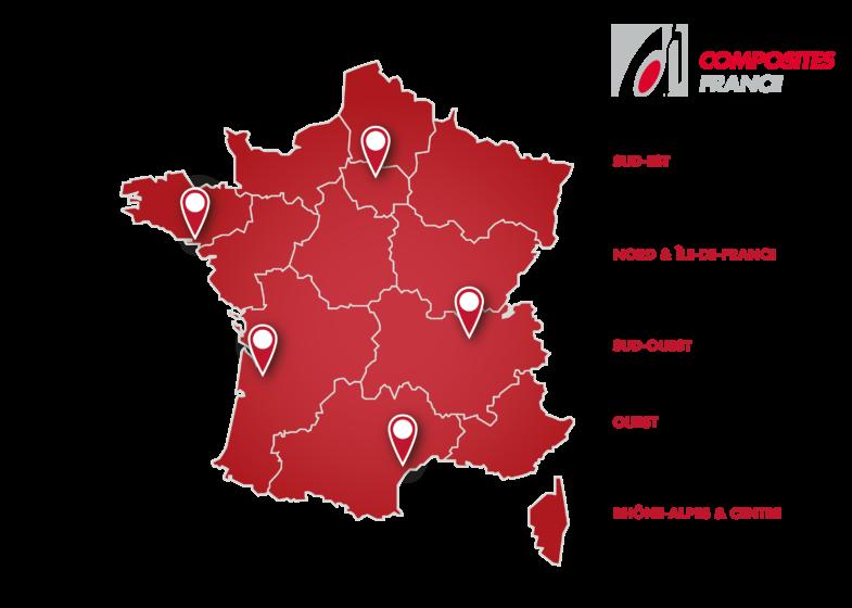 Carte France Reseau Composites