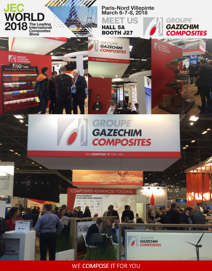 Gazechim composites au JEC World 2018 à Paris